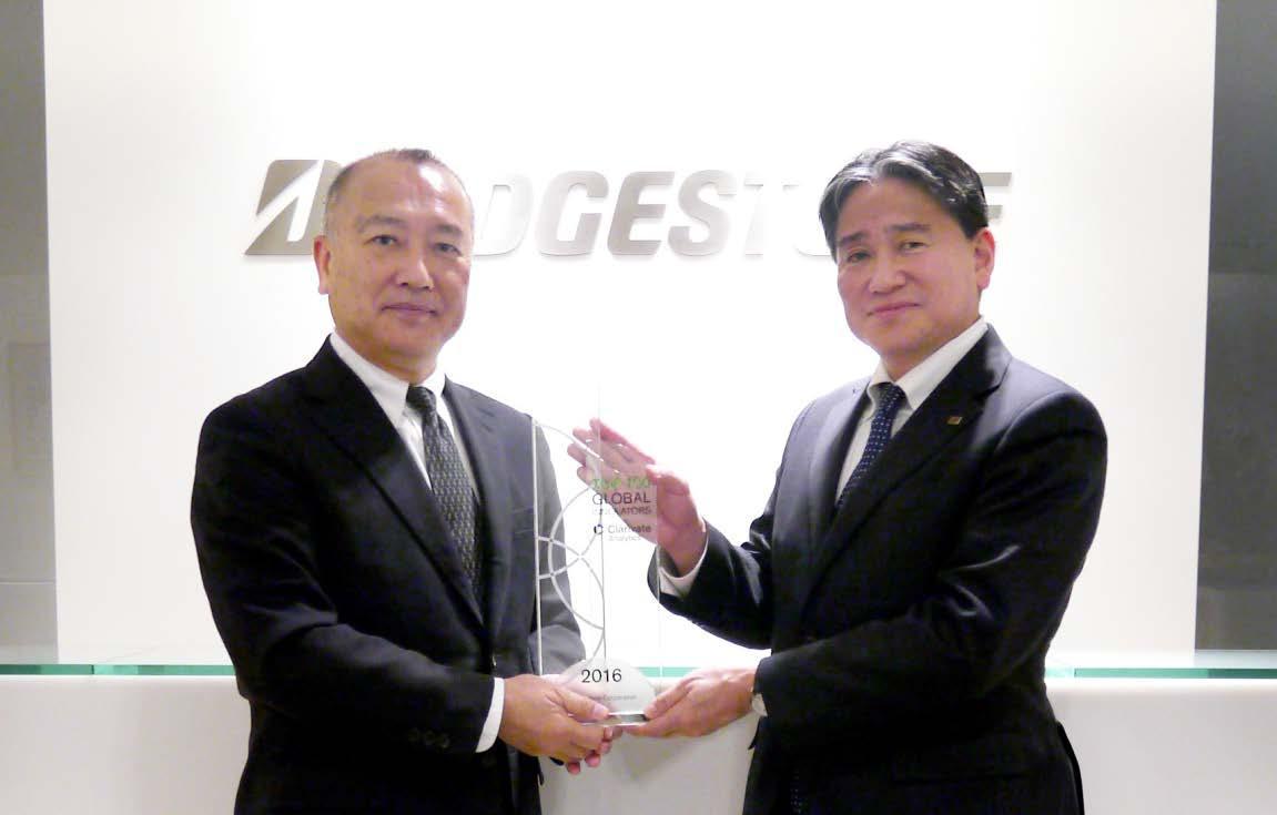 Bridgestone снова в Top 100 Global Innovators 2016