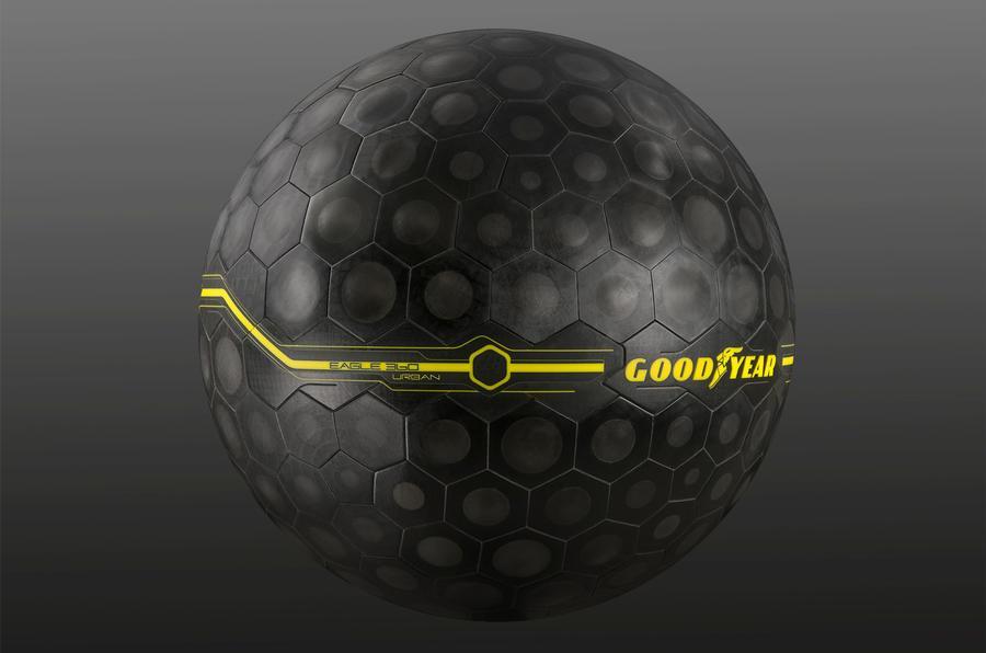 Goodyear представила в Женеве «умные» сферические шины Eagle 360 Urban
