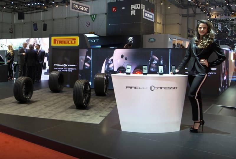 Пирелли продемонстрировала в Женеве цветные шины и мобильную систему мониторинга шин