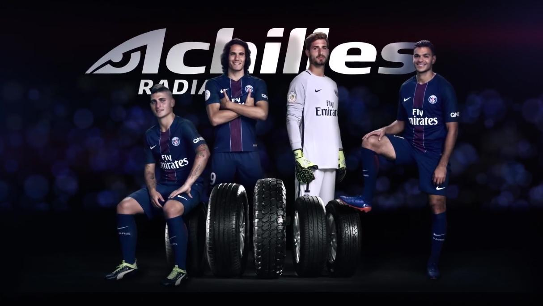 Футболисты ПСЖ продвигают шины линейки Achilles Radial Series
