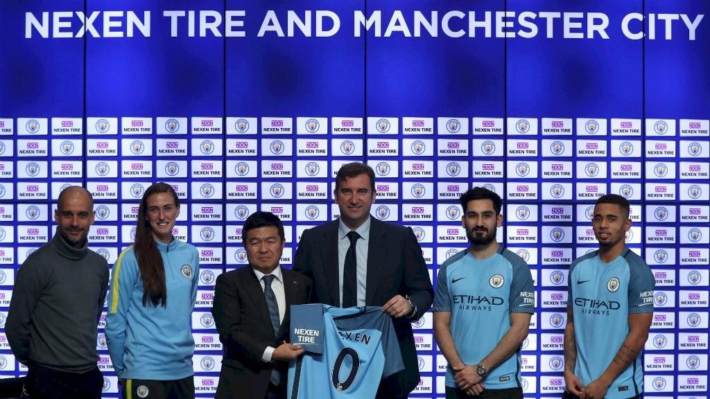 На футболках игроков «Манчестер Сити» появится логотип Nexen Tire