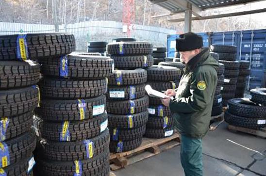 Таможня пресекла незаконный ввоз в Россию крупной партии грузовых шин из Китая