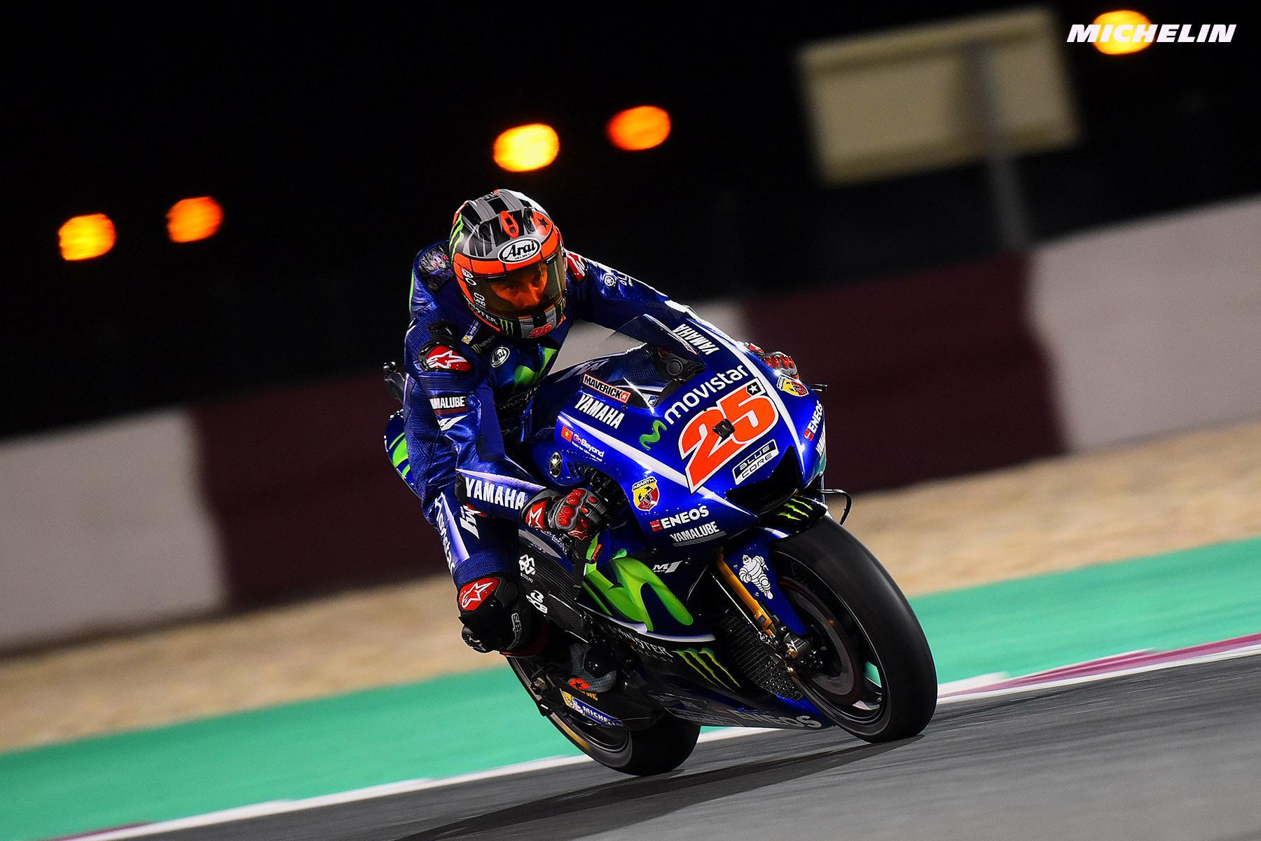 Шины Michelin Power Slick помогли Маверику Виньялесу выиграть Гран-при Катара MotoGP 2017