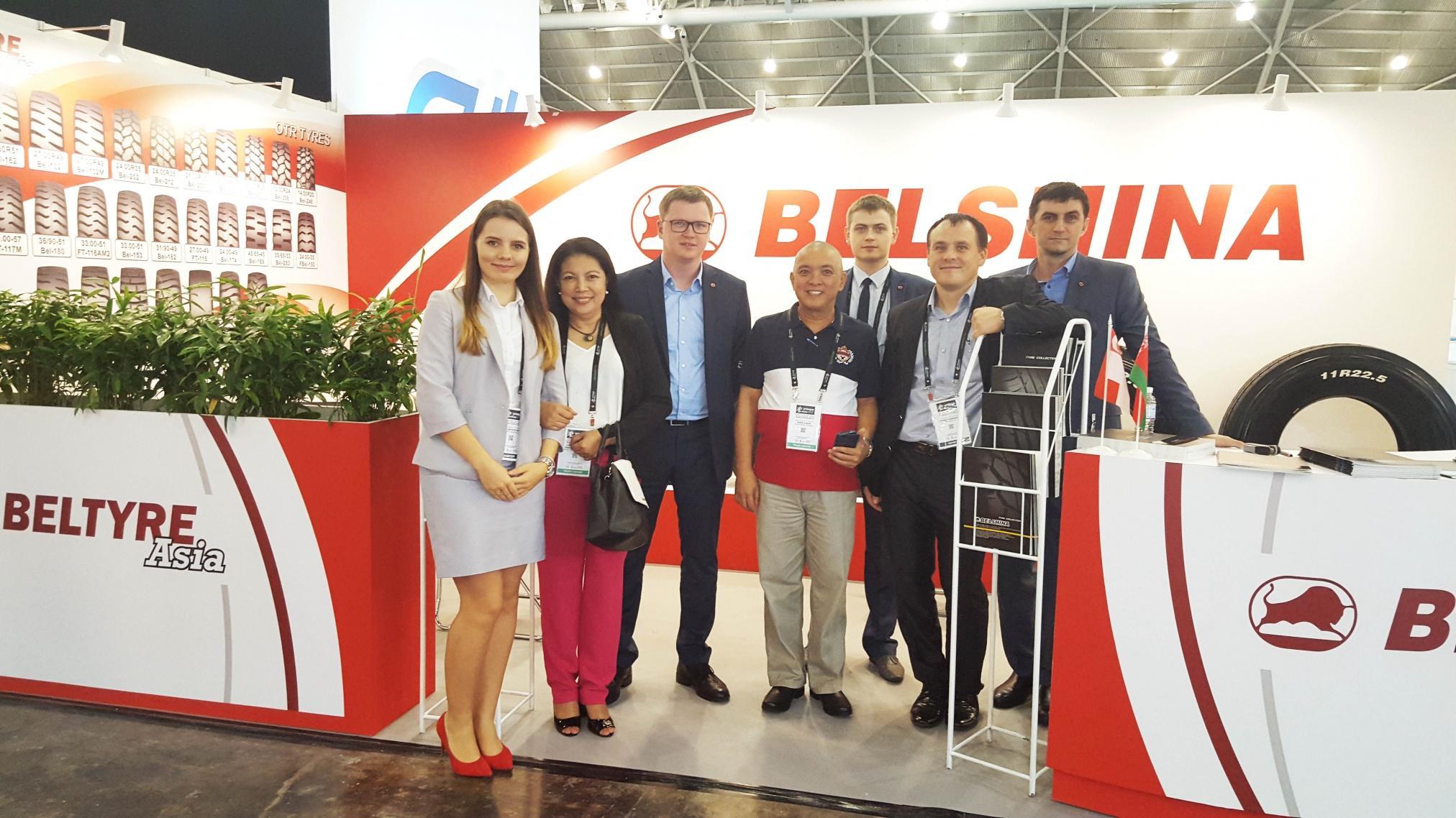 Белорусские шины представили на выставке в Сингапуре