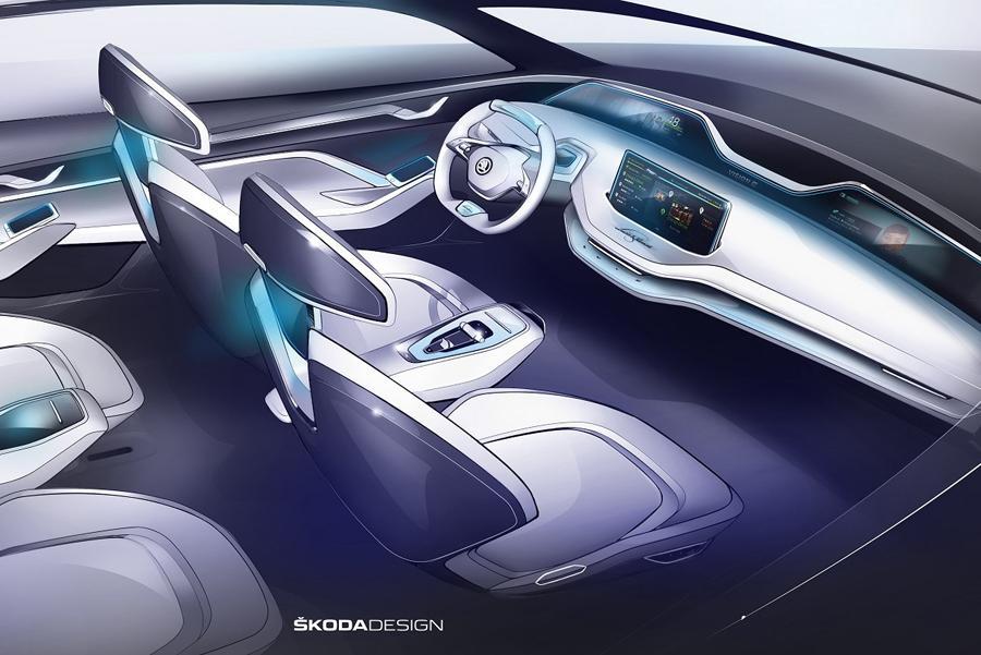 Skoda показала новые тизеры концепта Vision E