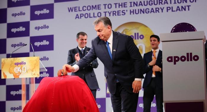 В Венгрии открыли новый завод компании Apollo Tyres