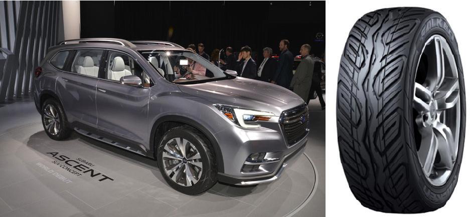 Sumitomo разработала концепт-шины Falken для Subaru Ascent SUV Concept