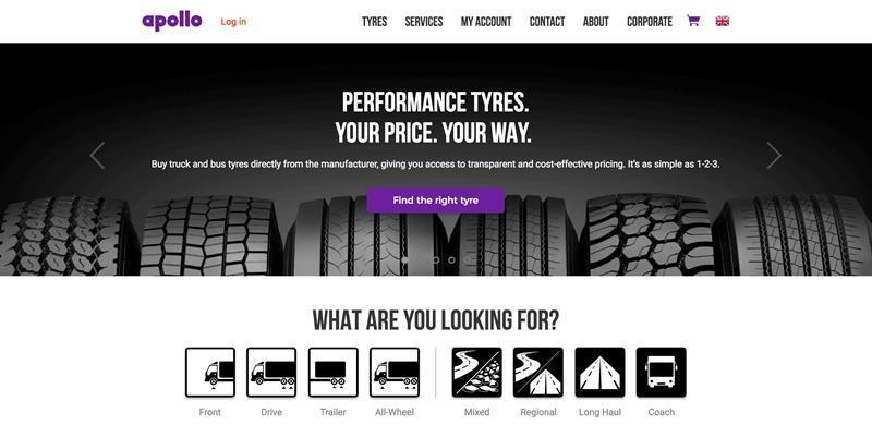 Apollo Tyres выходит на европейский рынок TBR-шин через Интернет