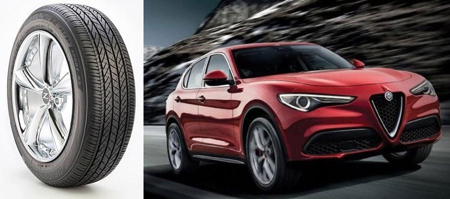 Bridgestone стала поставщиком OE-шин для новых кроссоверов Alfa Romeo Stelvio