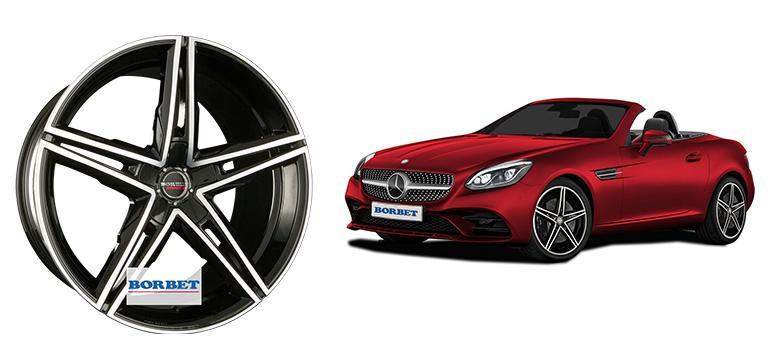 Borbet разработала диск для Mercedes-Benz SLC 172