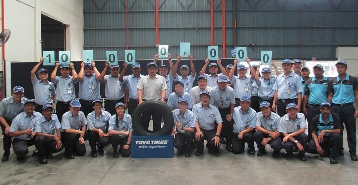 Завод Toyo Tires в Малайзии выпустил более 10 миллионов шин