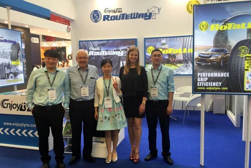 Enjoy Tyre отметила юбилеи своих брендов Rotalla и Routeway на выставке в Италии
