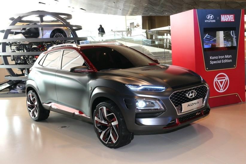 Hyundai Kona Iron Man позаимствовал обувь у Hyundai Carlino