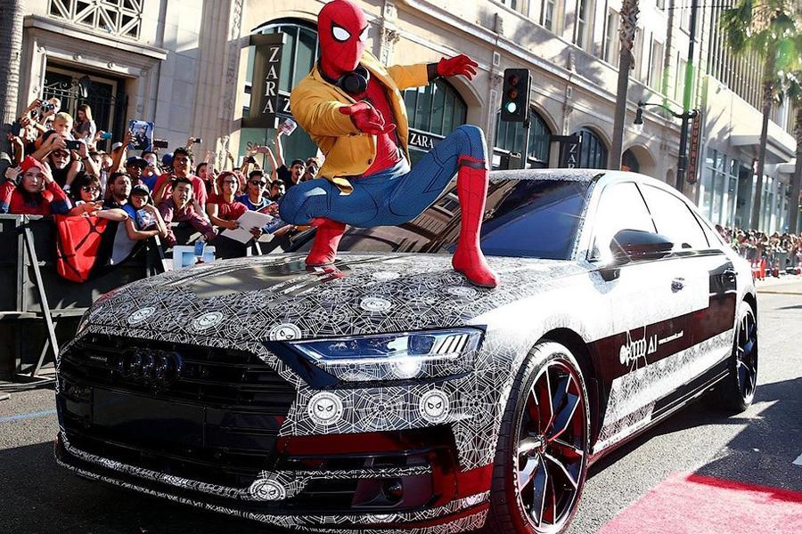Audi A8 засветилась на премьере «Человека-паука»