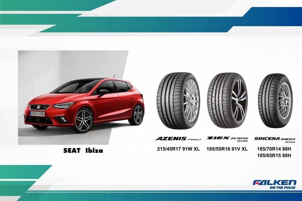 Пятое поколение Seat Ibiza выбирает резину Falken