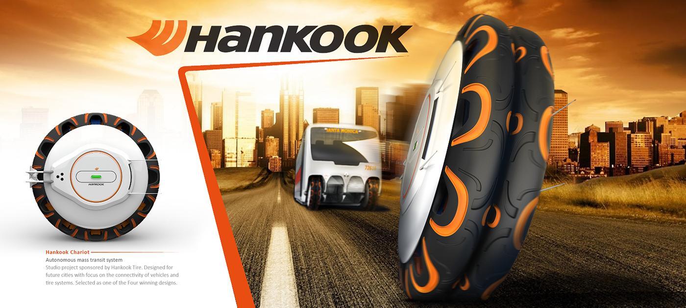 Hankook представляет интеллектуальные концепт-шины Autobine для автобусов будущего