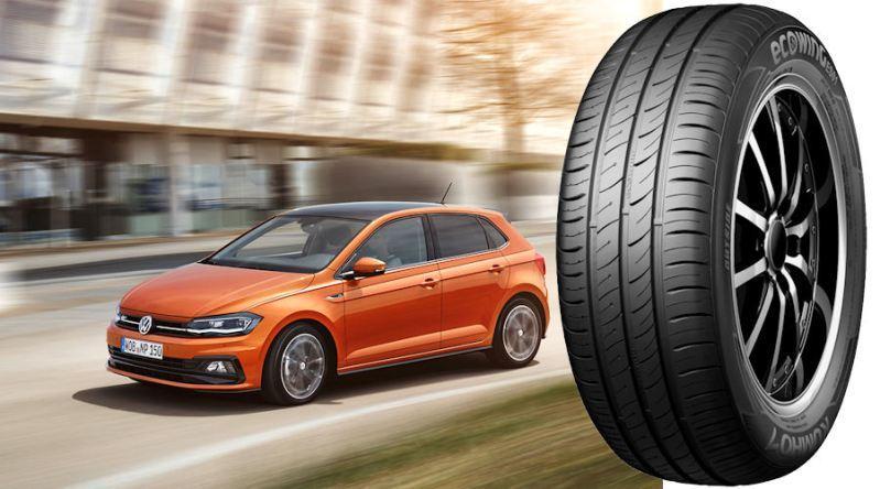 VW Polo 2018 оснастят оригинальными покрышками Kumho Ecowing ES01 KH27
