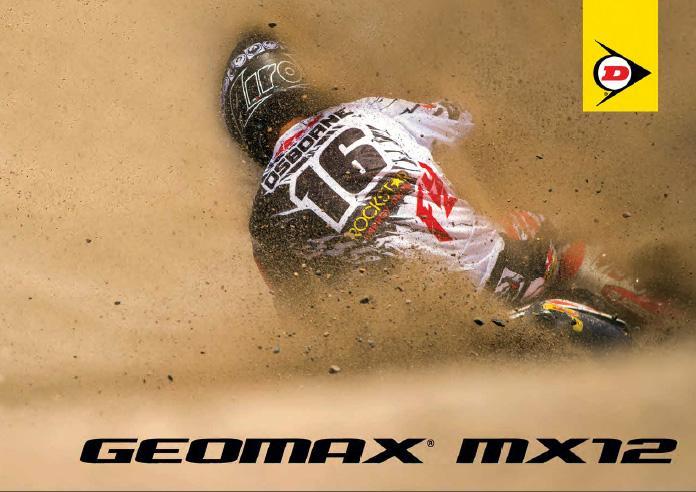 Dunlop завершает формирование мотокроссовой линейки Geomax новой шиной MX12