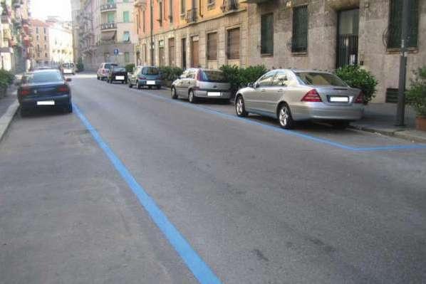 В Москве появится разметка голубого цвета