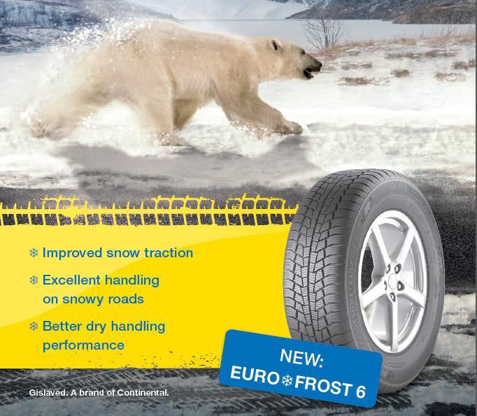 Gislaved выводит на европейский рынок новые зимние шины Euro*Frost 6