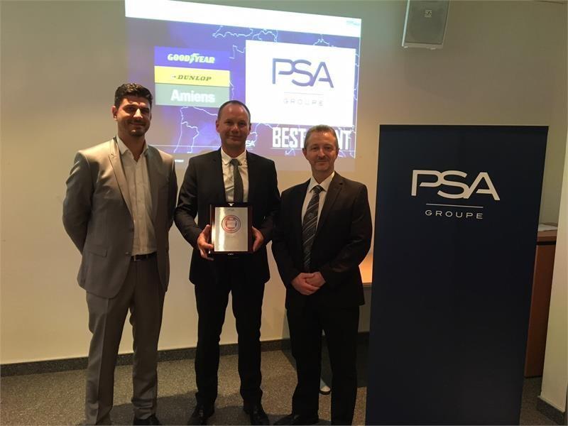 Завод Goodyear в Амьене признан лучшим поставщиком Groupe Peugeot Citroën Automobiles