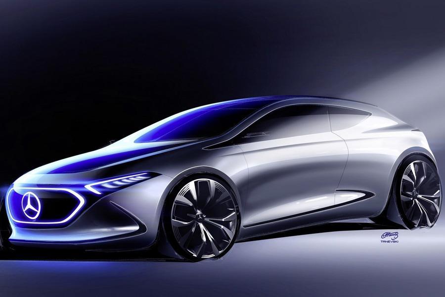 Mercedes показал новые тизеры концепта EQ A