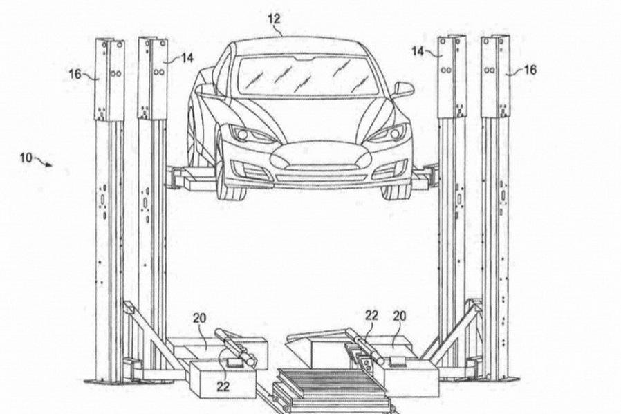 Tesla предлагает систему быстрой замены батарей