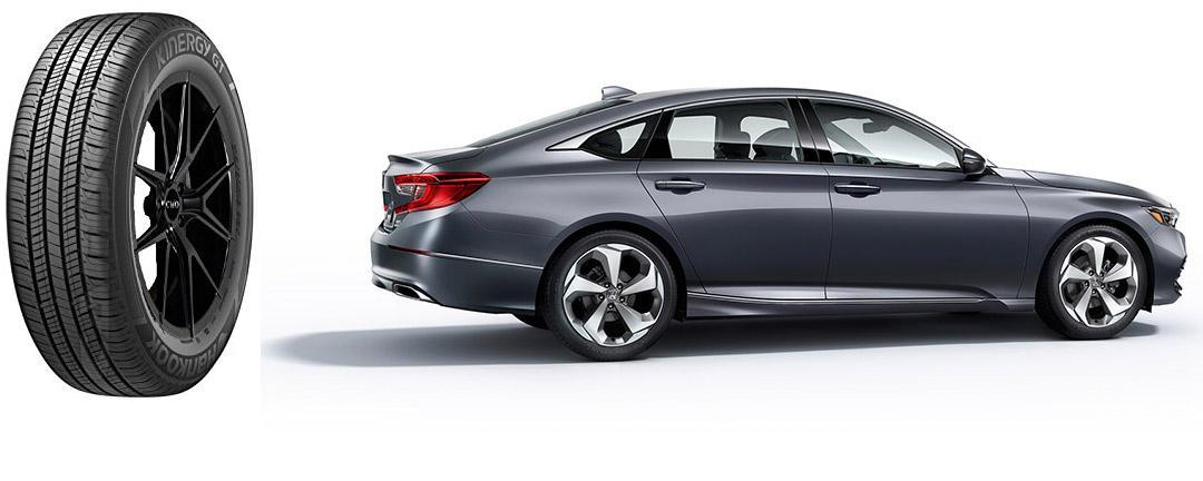 Седаны Honda Accord десятого поколения обуют в шины Hankook Kinergy GT