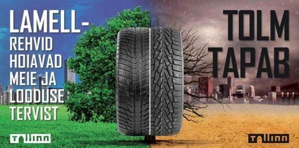 Власти Таллинна призывают отказаться от использования шипованных шин