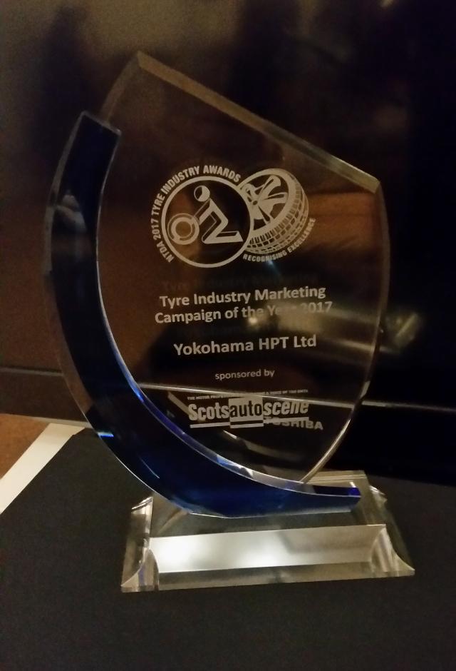 Yokohama получила премию NTDA Marketing Campaign of the Year Award 2017