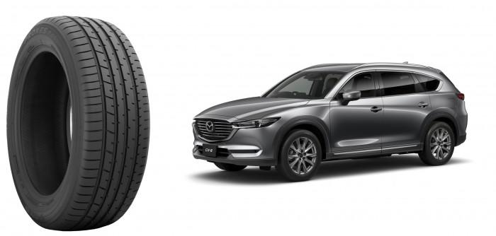Для заводской комплектации Mazda CX-8 выбрали шины Toyo Proxes R46