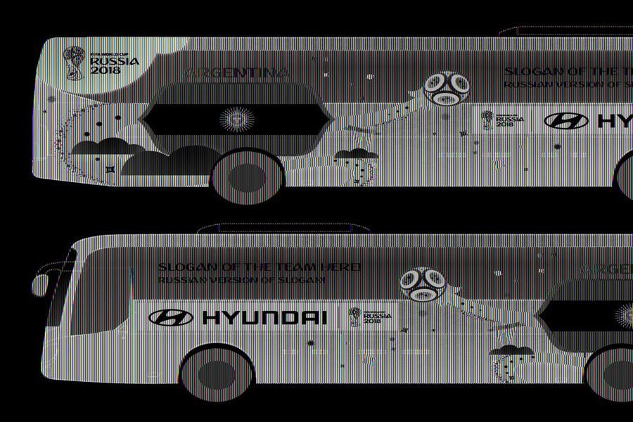 Hyundai показала дизайн автобусов для ЧМ-2018