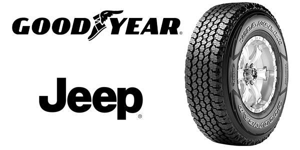 Goodyear обует новый Jeep Wrangler 2018 в сверхпрочные шины с кевларом