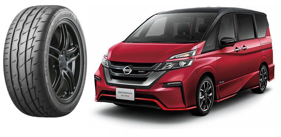Новые минивэны Nissan Serena Nismo обули в шины Bridgestone Potenza Adrenalin RE003