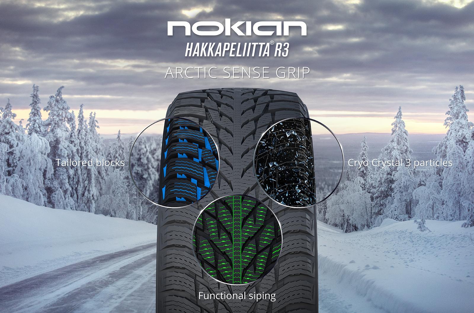 Новая Nokian Hakkapeliitta R3 - безупречный баланс безопасности и комфорта