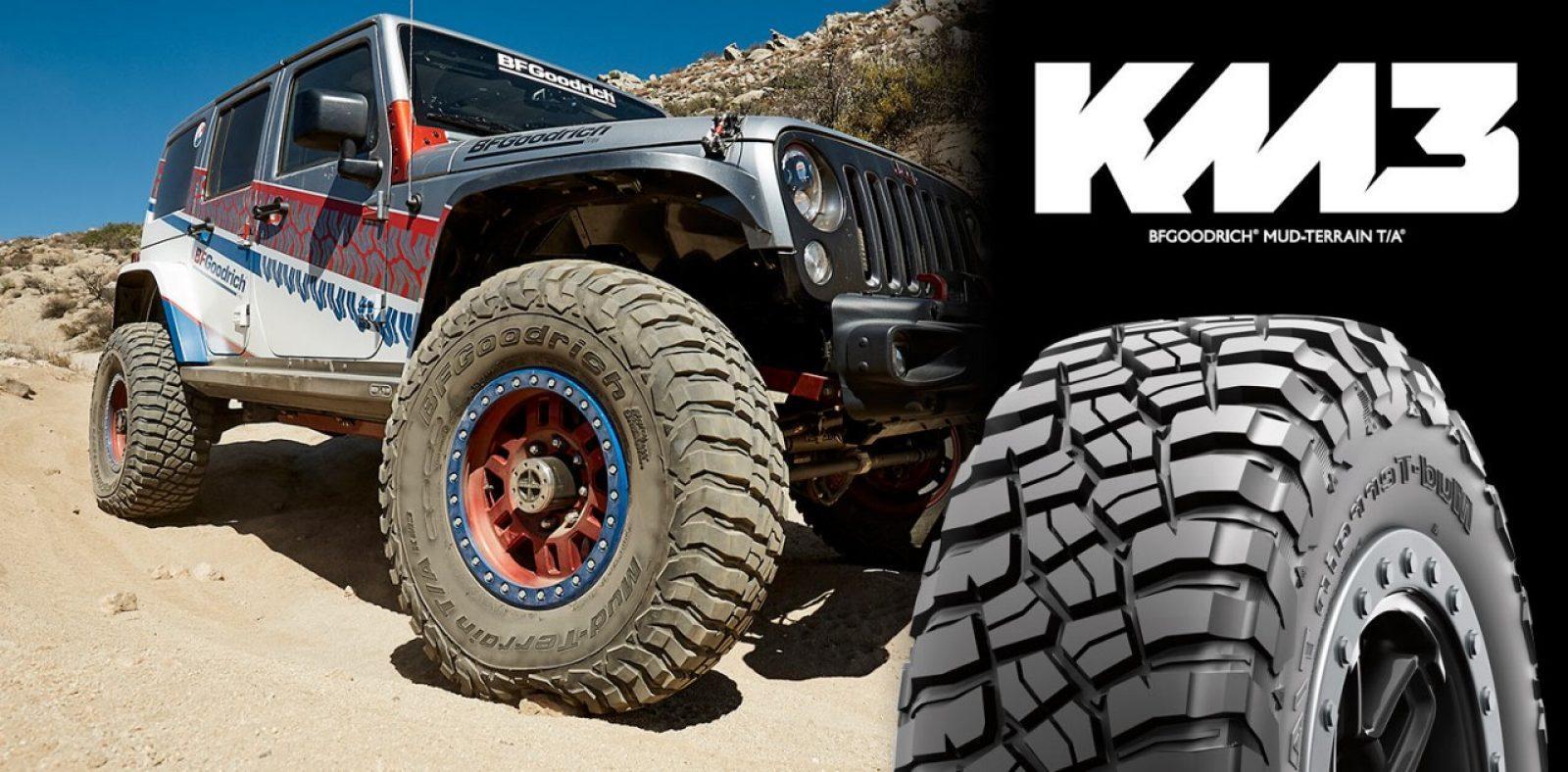 BFGoodrich анонсировала старт продаж нового поколения грязевых шин Mud-Terrain T/A KM3