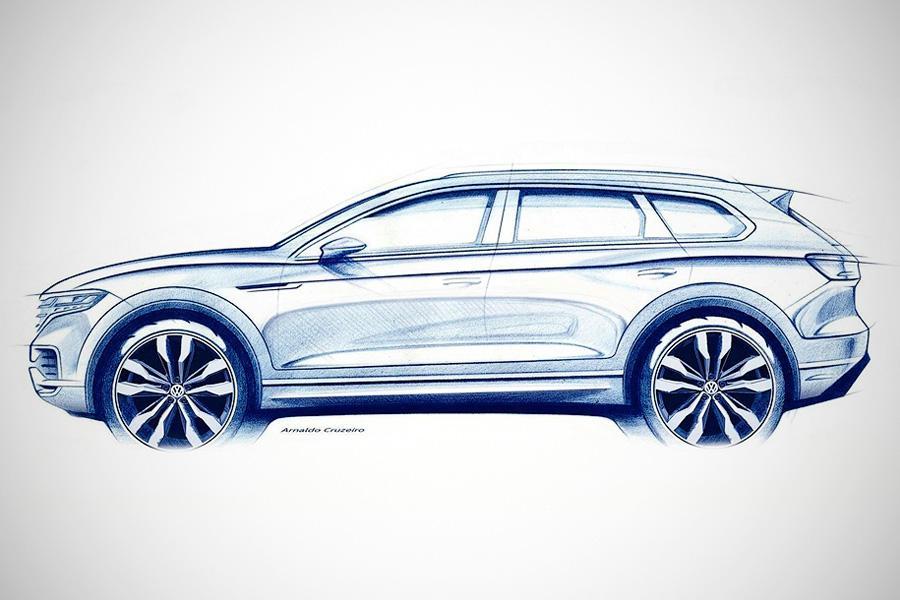 Volkswagen Touareg: первое официальное изображение