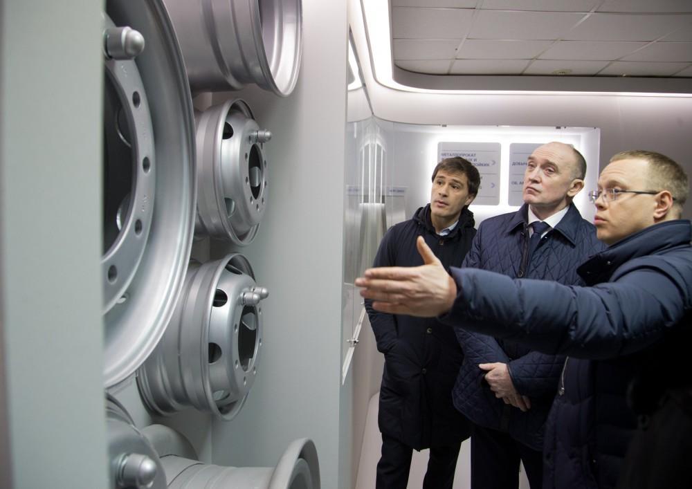 Глава Челябинской области посетил производство колесных дисков Hartung