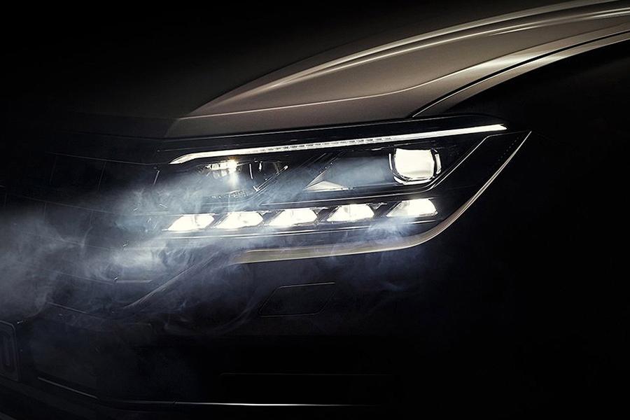 Volkswagen Touareg показал фару