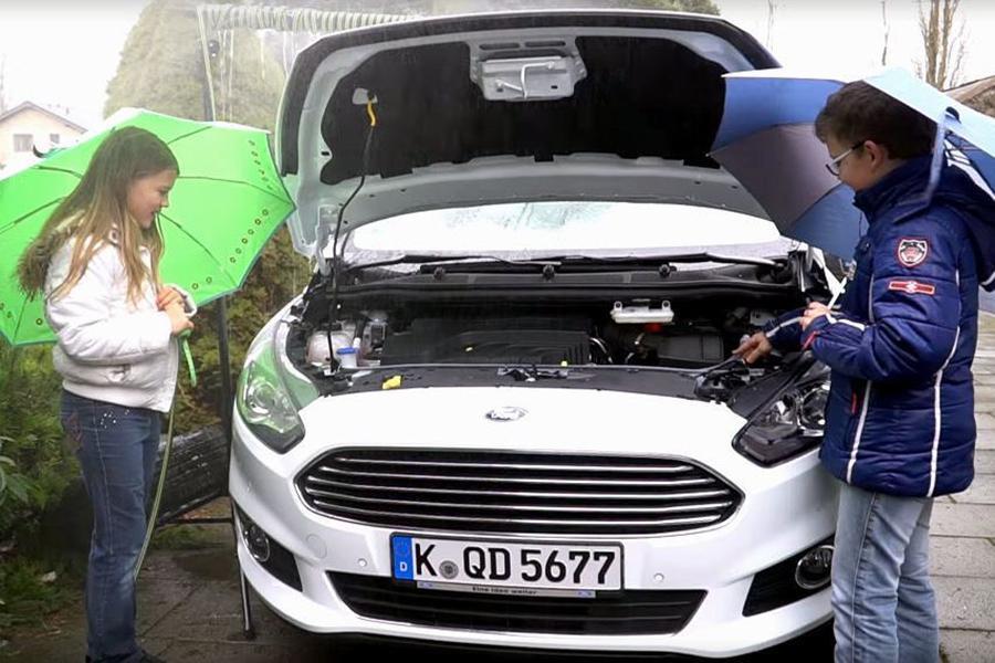 Дети подсказали компании Ford, как сэкономить жидкость стеклоомывателя