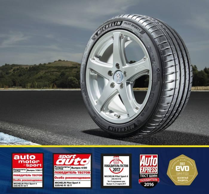 Michelin Pilot Sport 4 лидирует в тестах ведущих европейских автоизданий