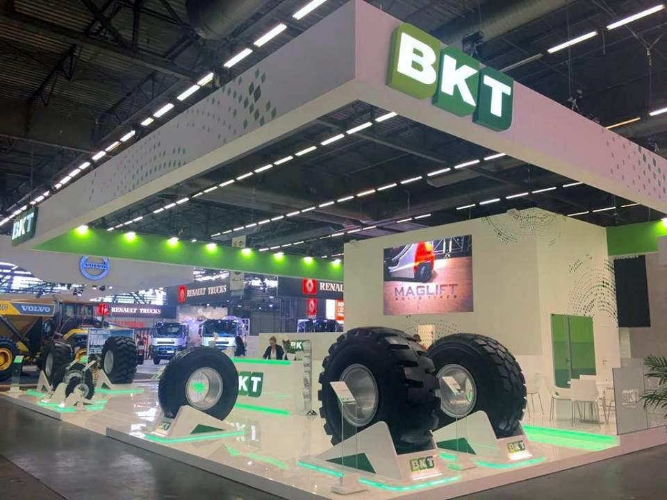 Eвропейский дебют BKT Portmax PT 93 на выставке Intermat 2018