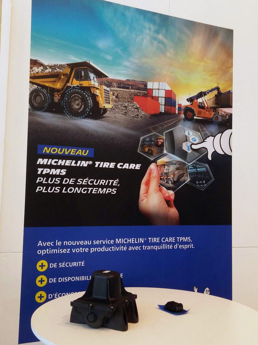 Мишлен представил в Париже систему контроля давления в крупногабаритных шинах