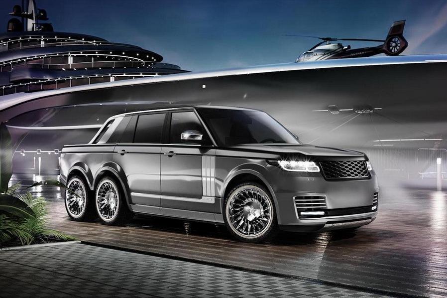 Range Rover поставили на шесть колес
