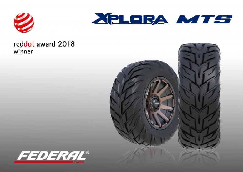«Спартанская» шина Federal Xplora MTS удостоена премии Red Dot Award 2018