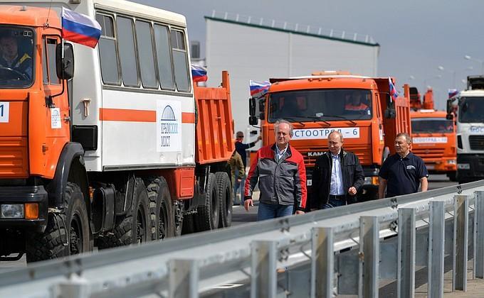 Шины КАМА первыми проехали по Крымскому мосту