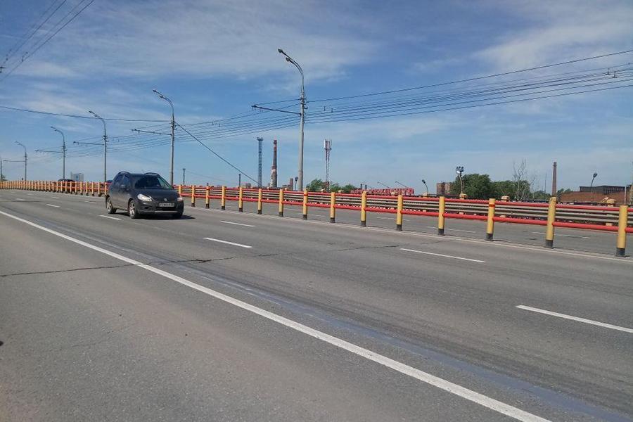 На трассе М-7 появились новые барьерные ограждения