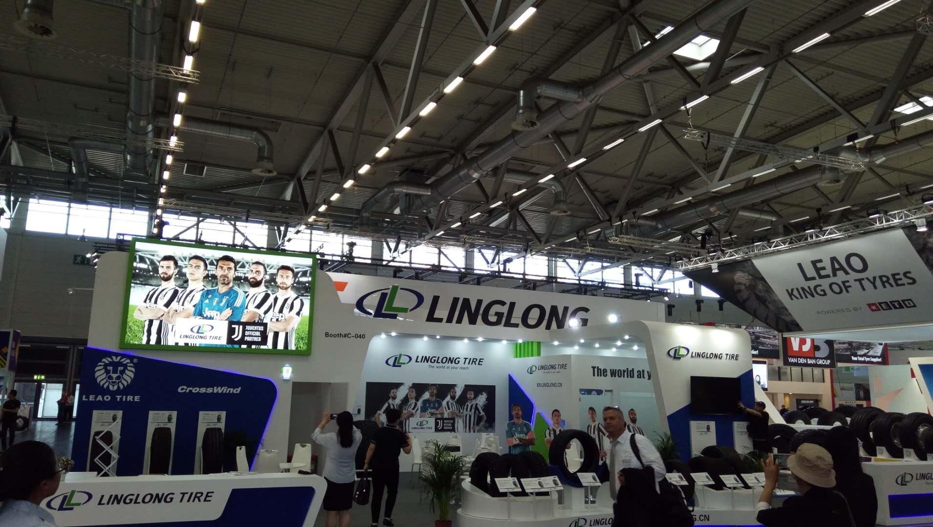 Шестнадцать лучших моделей Linglong на шинном салоне в Кельне