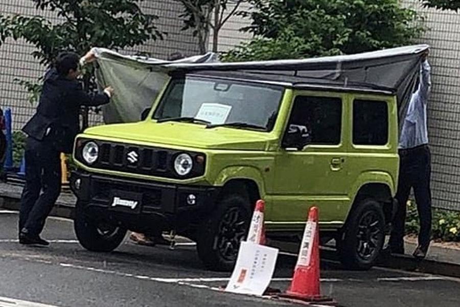 Suzuki Jimny снова попался фотошпионам
