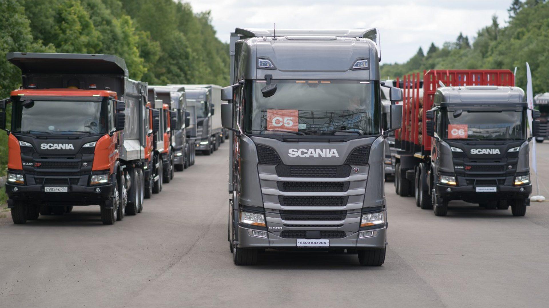 Мишлен предоставил шины для российской презентации грузовиков Scania нового поколения
